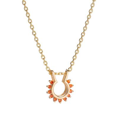 Martha Seely Sapphire Starburst Necklace, 2021