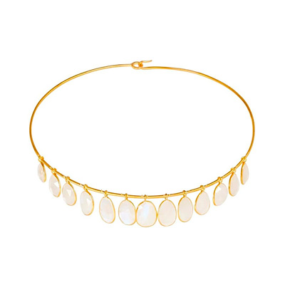 Pippa Small First Frost Rainbow Moonstone Fringe Torque, 2010s