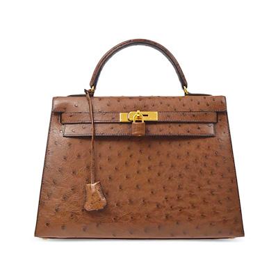 Hermès Ostrich Kelly 32 Bag, Contemporary